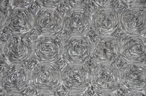 Silver Rosette Satin Tablecloths Tablecloths