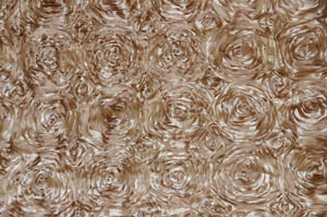 Taupe Rosette Satin Tablecloths Tablecloths