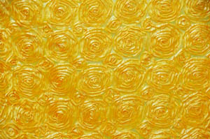 Yellow Rosette Satin Tablecloths Tablecloths