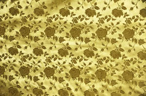 Dark Gold Satin Brocade Jacquard Table Drapes Table Drapes