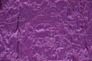 Plum Sequins Ribbon Taffeta Table Drapes Table Drapes