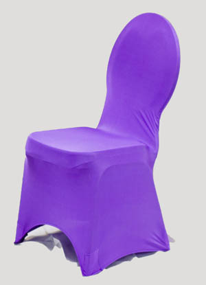Purple Spandex Chair Cover Ballroom Banquet Chair Covers Ballroom and Banquet Chair Covers