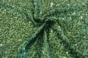 Hunter Green Taffeta Sequins Table Drapes Table Drapes