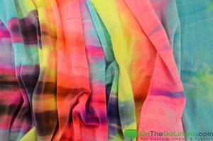 Tie Dye Stretch Velvet Yards Yards