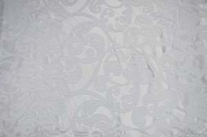 White Victorian Damask Table Drapes Table Drapes